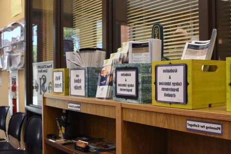 The guidance office has many resources for students to utilize including information about college admissi上s and work permits.